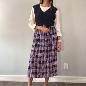 90's floral & gingham dress